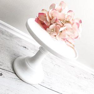 cake stand hire small milk glass pedestal