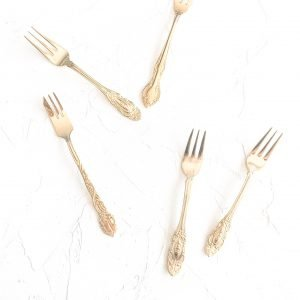 gold cutlery hire cristina re cake forks