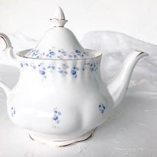 high tea set hire teapot royal albert memory lane