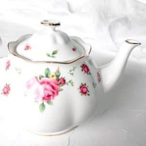 high tea hire royal albert new country roses
