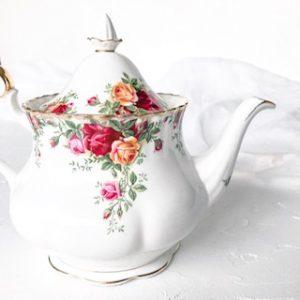 high tea set hire teapot royal albert old country roses