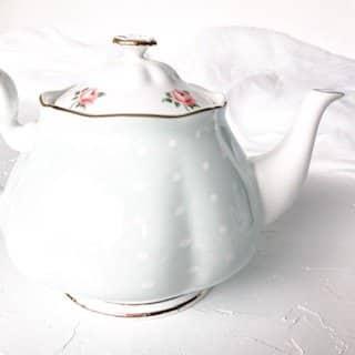 high tea set hire royal albert polka rose green teapot