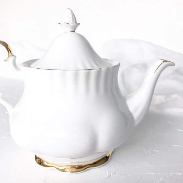 high tea set hire royal albert val d'or
