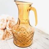 drink-station-hire-depression-glass-jug-amber