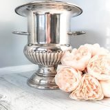 vintage silver champagne bucket for hire