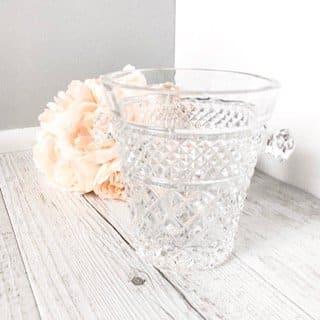 small cut crystal ice bucket