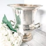 vintage silver ice bucket for champagne