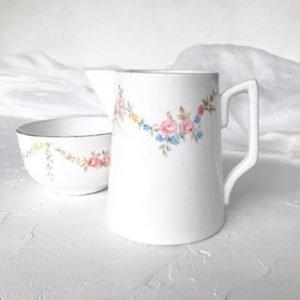 floral high tea set hire