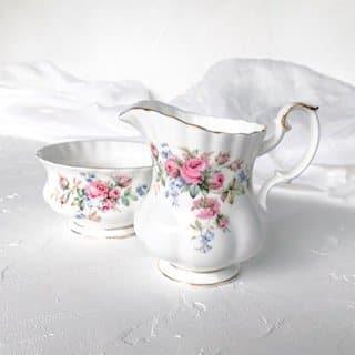 high tea set hire sydney moss rose