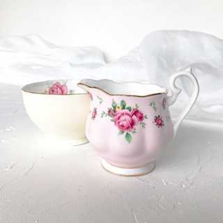 pastel high tea set hire