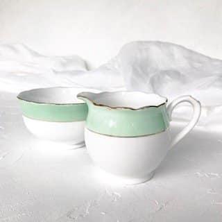 green high tea set hire