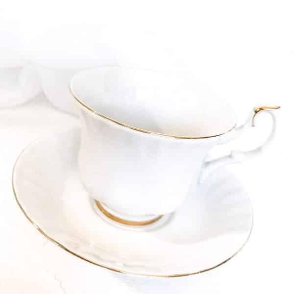 white royal albert teacup