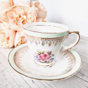 green vintage teacup hire sydney