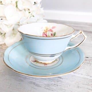 blue vintage teacup sydney