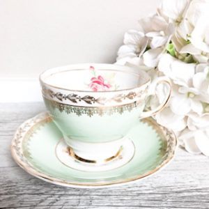 gorgeous pastel green teacups for hire