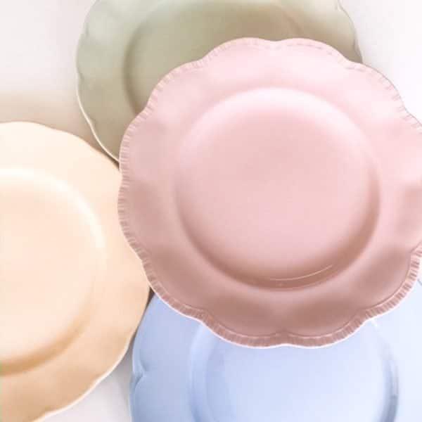 vintage dinner plates pastel ceramic