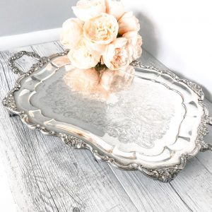 ornate silver serving tray geraldine