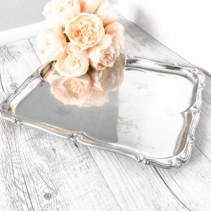 vintage ornate serving platter