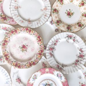 royal albert entree plates for hire