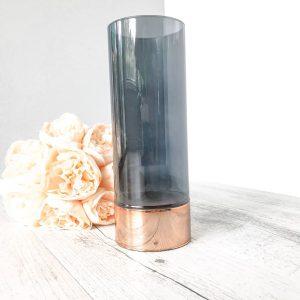 copper rim candle holder large
