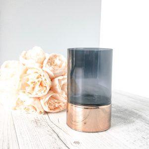 copper rim candle holder