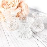 small crystal candlestick holders